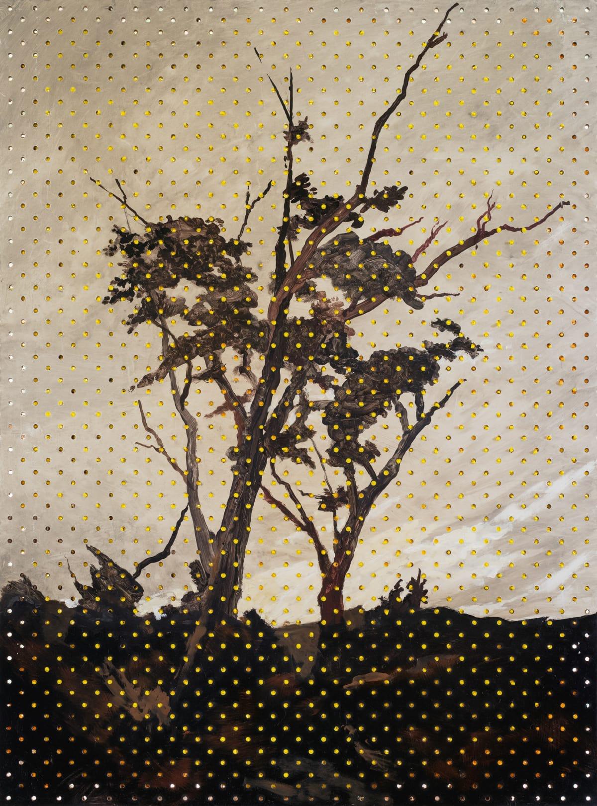 Derek Cowie Van der Velden on Cadmium White, 2017 Oil on peg board 32.9 x 24 in 83.5 x 61 cm
