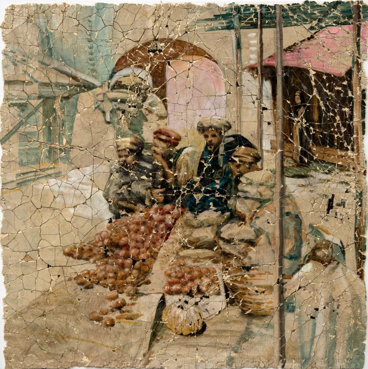Derek Cowie Hodgkins on Cadmium White (Tangiers, 1905) Oil on prepared plaster 30.3 x 30.3 in 77 x 77 cm
