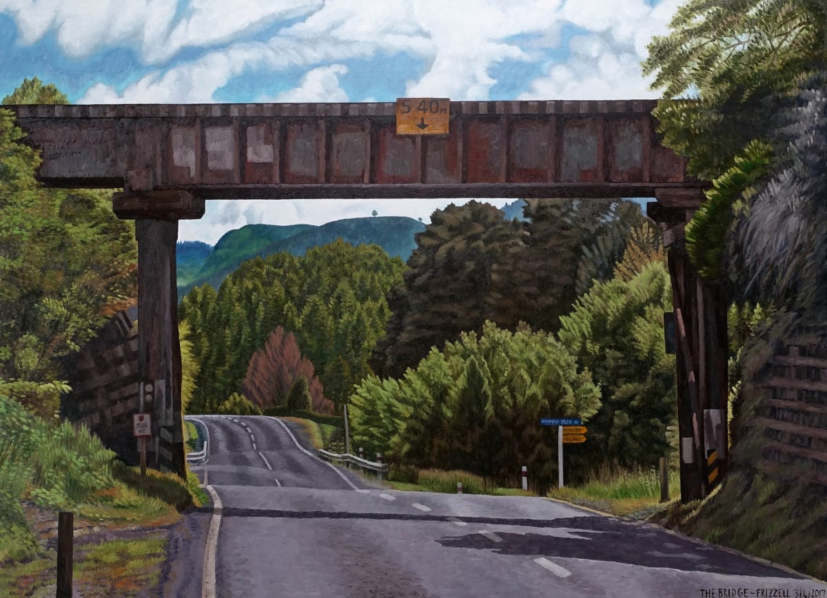 Dick FRIZZELL The Bridge, 2017 Oil on canvas 63 x 86.6 in 160 x 220 cm