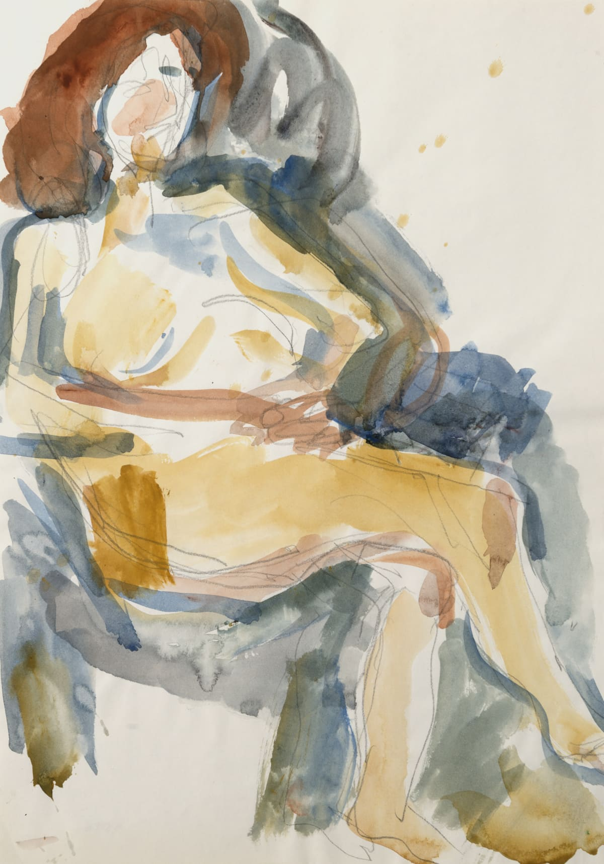 Mountford Tosswill Woollaston, Untitled [Nude in Chair] (2), n.d.