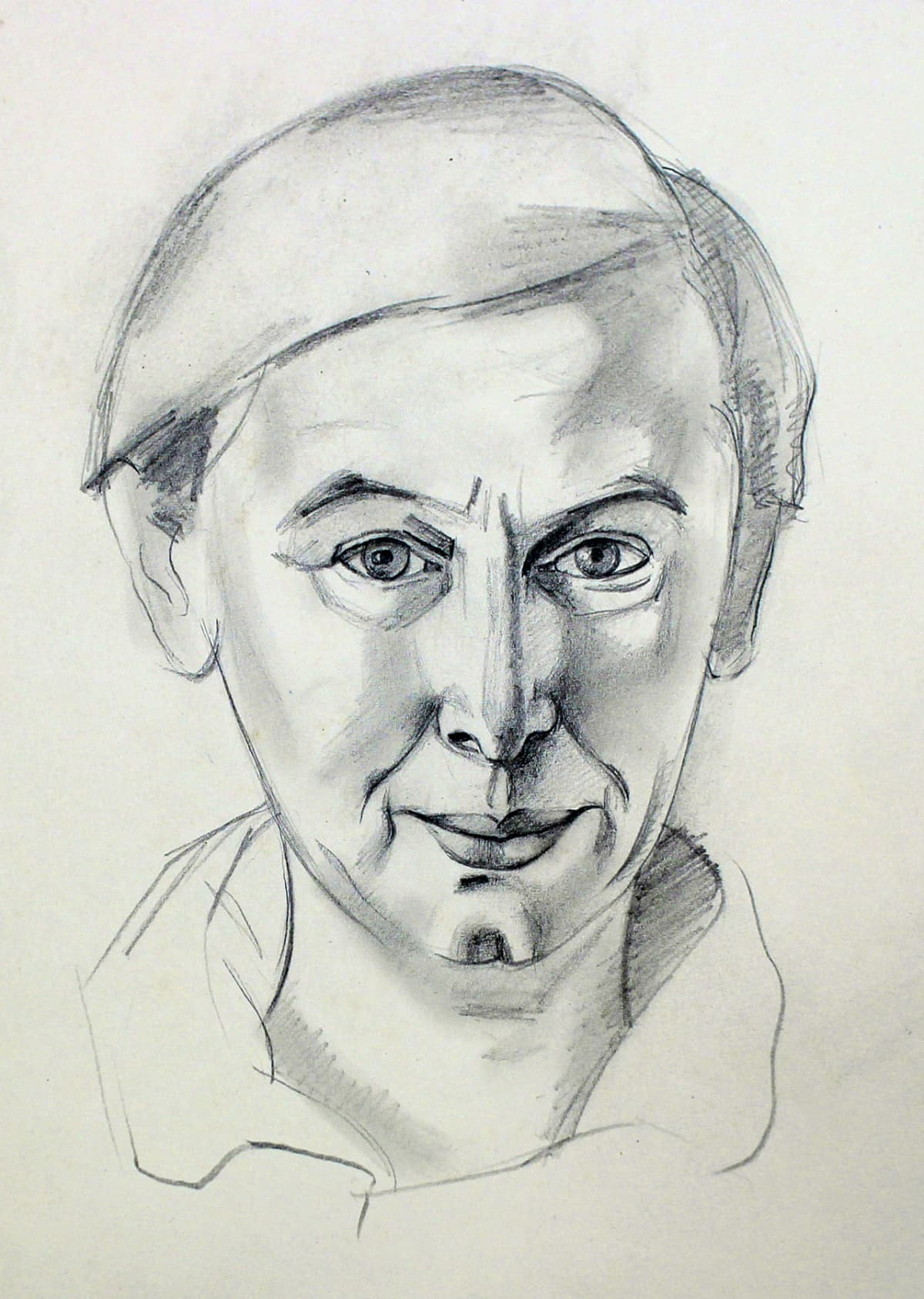 Rita Angus Untitled [Self Portrait], n.d. Pencil on paper 9.1 x 5.9 in 23 x 15 cm