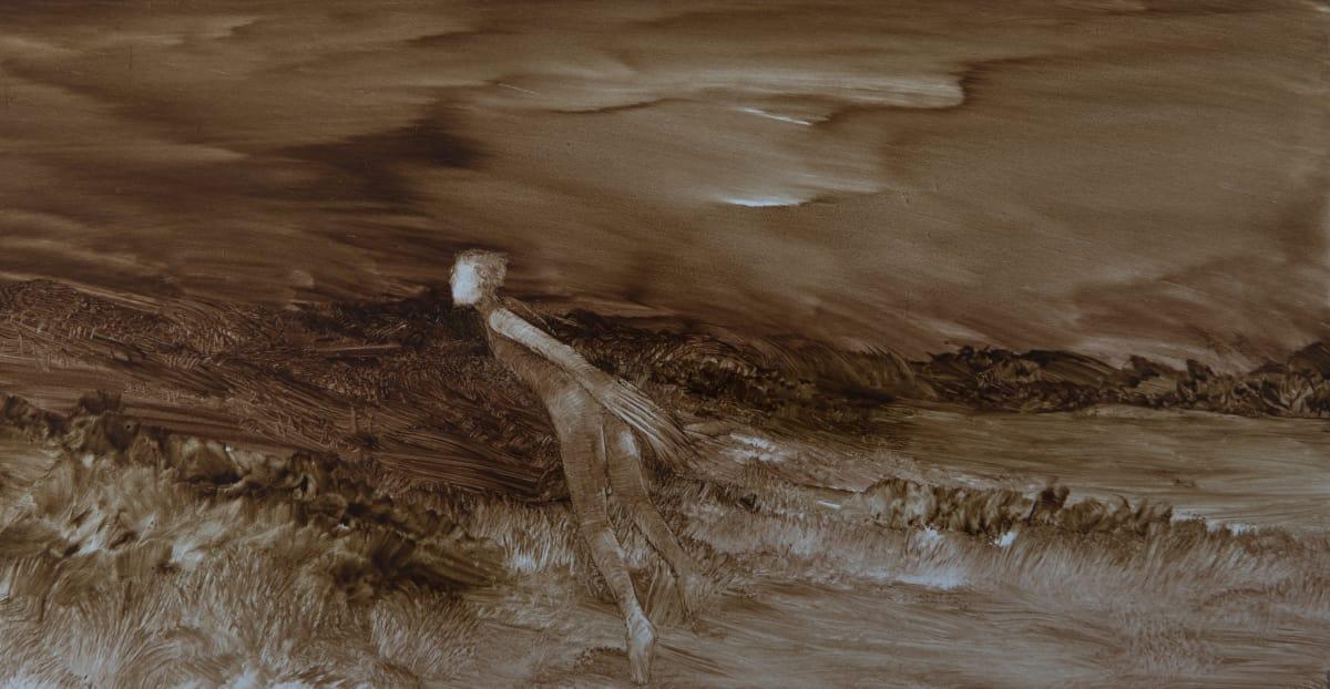 John WALSH A Free Man, 2015 Oil on board 6.3 x 12 in 16 x 30.5 cm