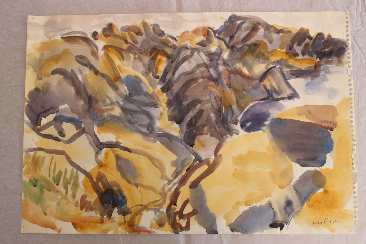Mountford Tosswill Woollaston  Makara Coast 6, 1974  Watercolour on paper  11.2 x 17.3 in 28.5 x 44 cm