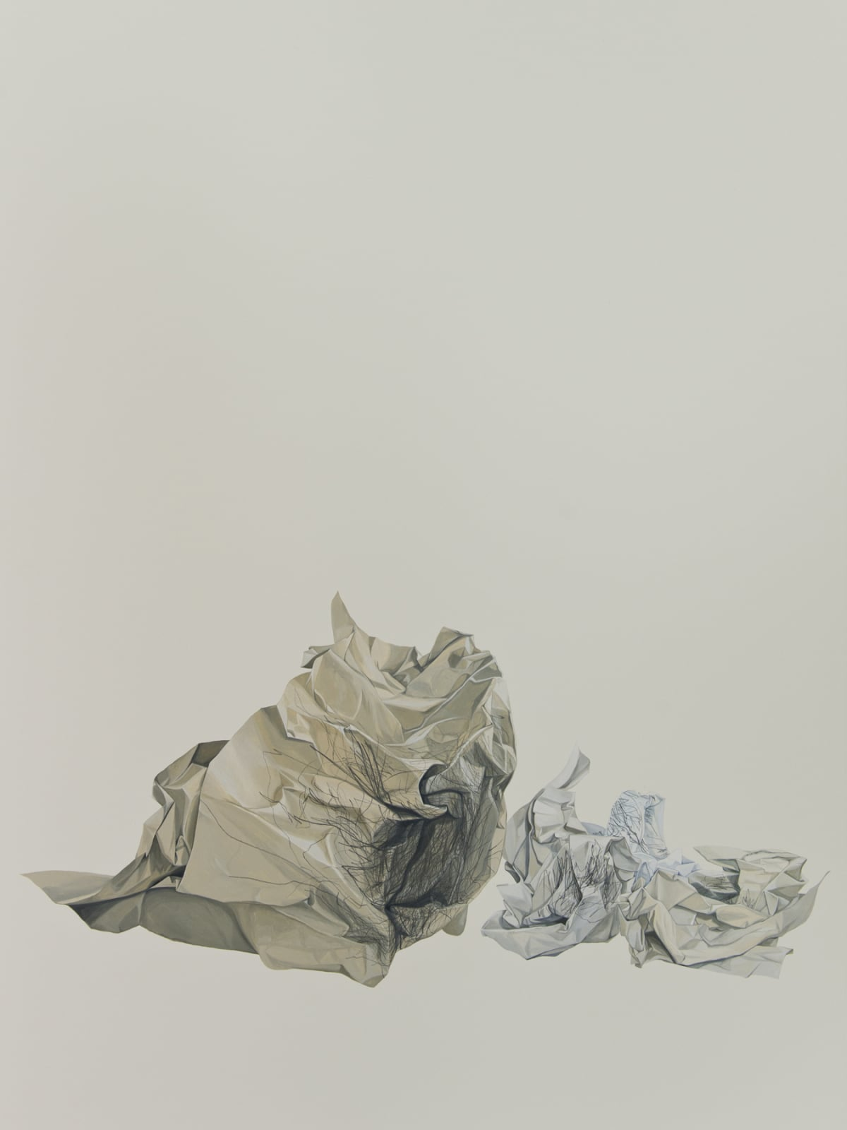 Marita Hewitt Waste Paper Series; Charting Balance With My Eyes Closed, 2015 Watercolour and graphite on paper 45.3 x 34.3 in 115 x 87 cm