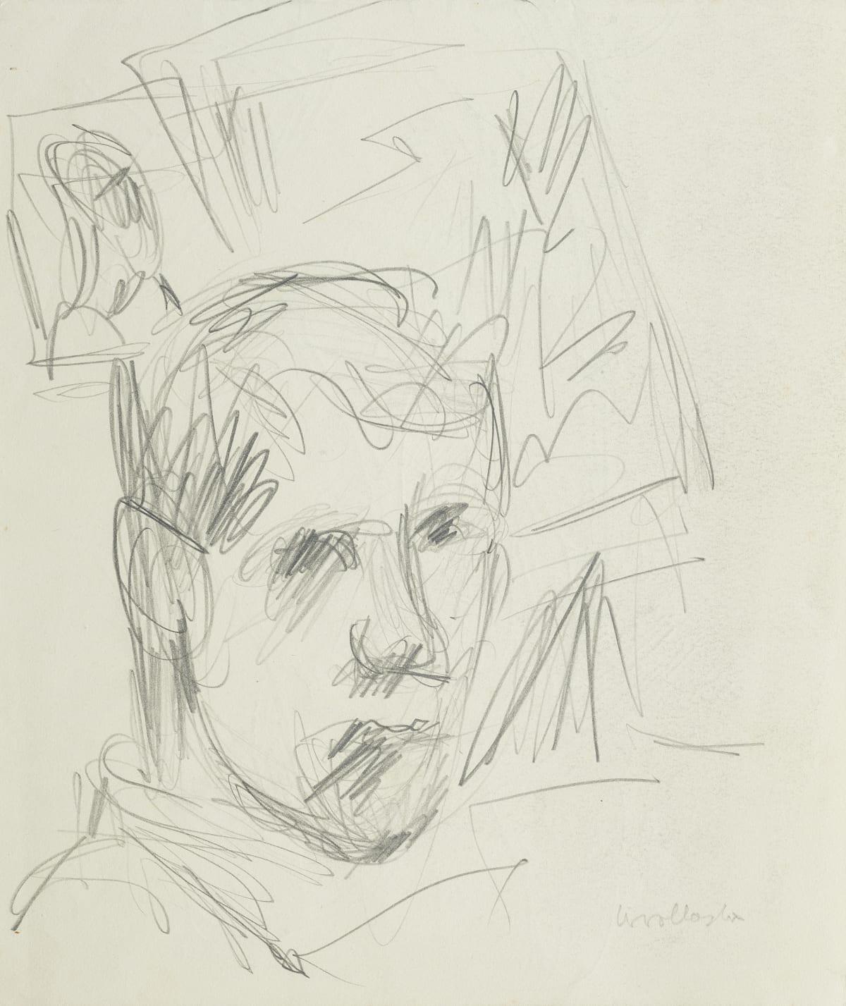 Mountford Tosswill Woollaston Self-Portrait (male head), 1958 pencil on paper 245mm x 205mm