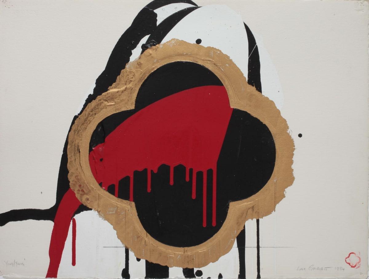 Max GIMBLETT Ying/Yang, 1984 Mixed media on paper 22 x 30 in 55.9 x 76.2 cm