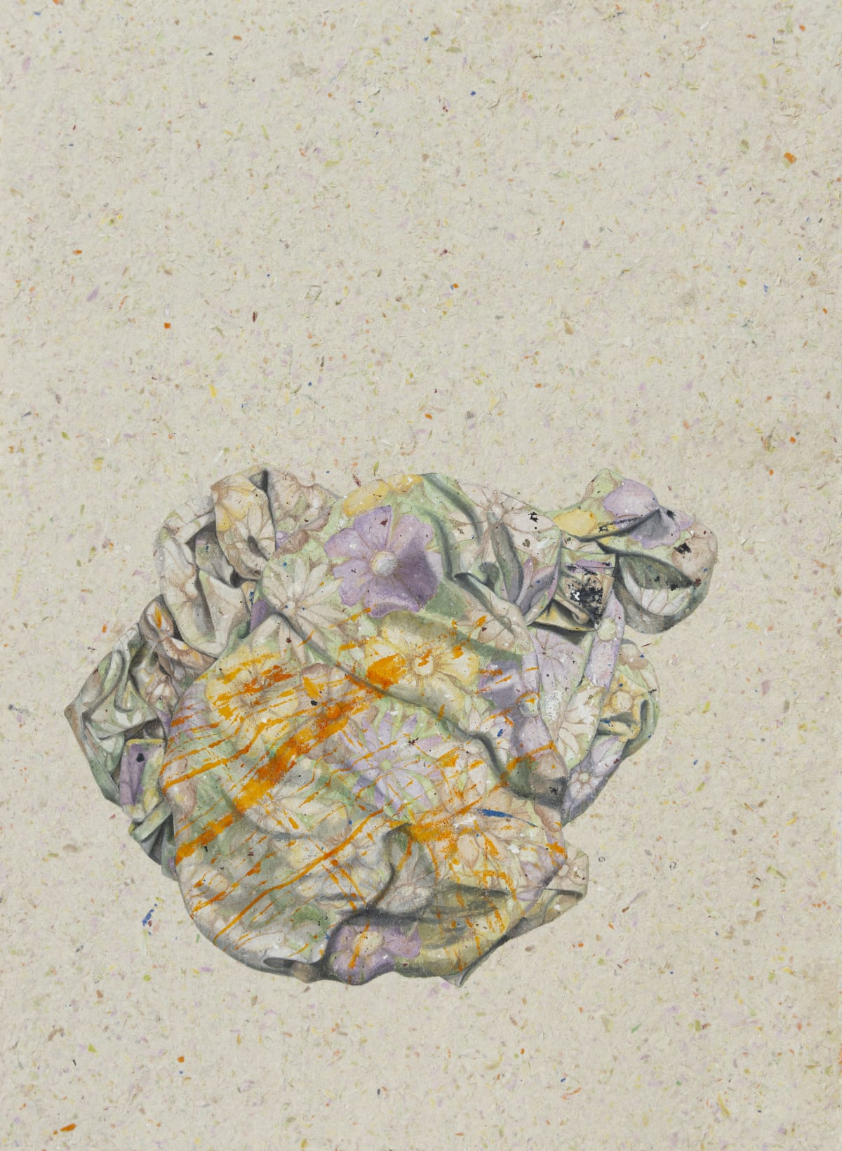 Marita Hewitt Still Here (faded multi-floral), 2018 Watercolour on handmade cotton rag paper 900 x 670mm