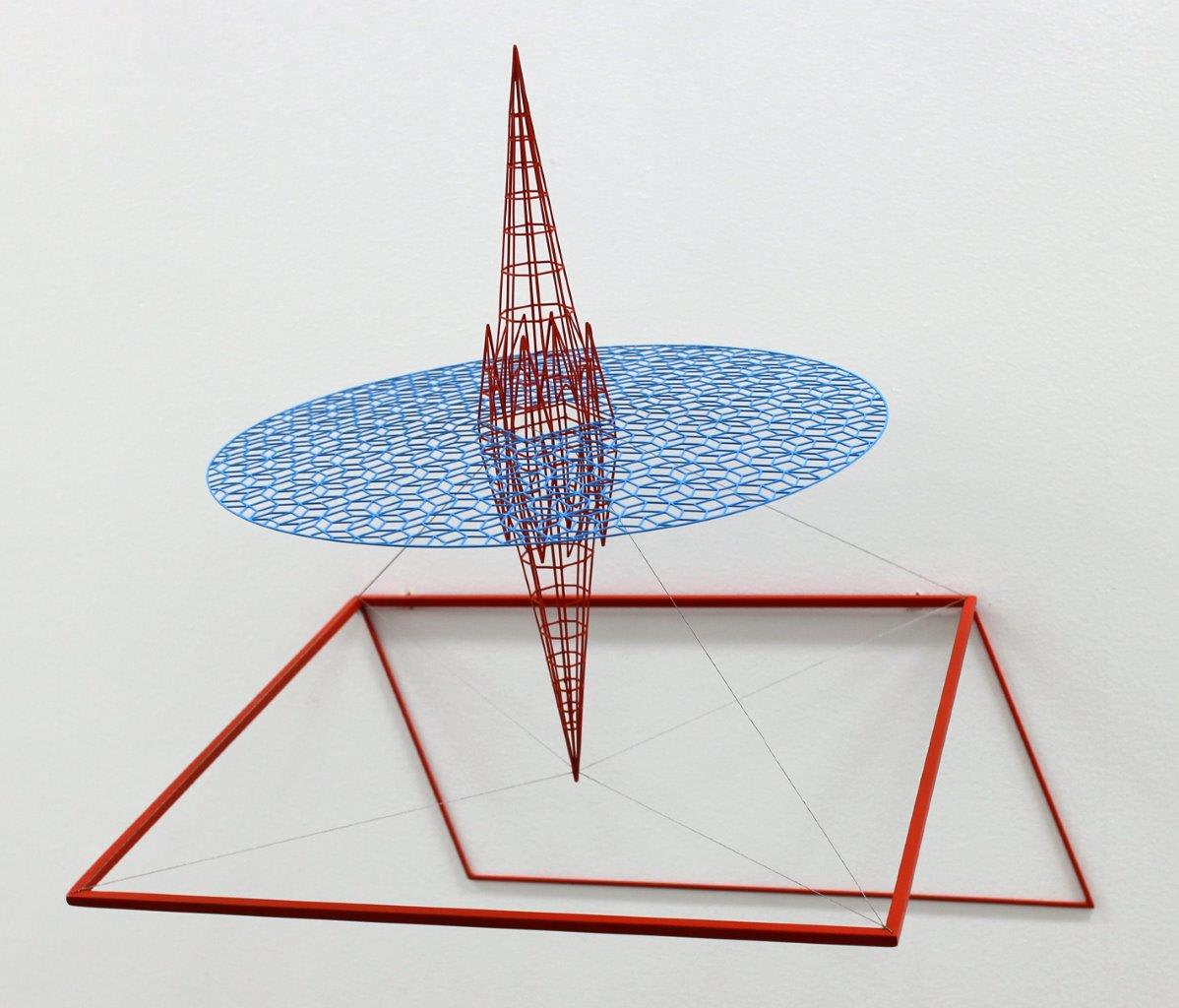 Neil Dawson  Inspiration 1, 2013  Painted steel and stainless steel wire  18.5 x 18.9 x 15 in 47 x 48 x 38 cm
