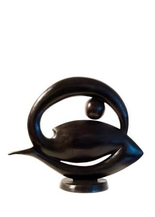 Paul DIBBLE Soft Geometric - Curled Figure, A/P, 2009 Cast Patinated Bronze 16.5 x 19.7 x 7.1 in 42 x 50 x 18 cm