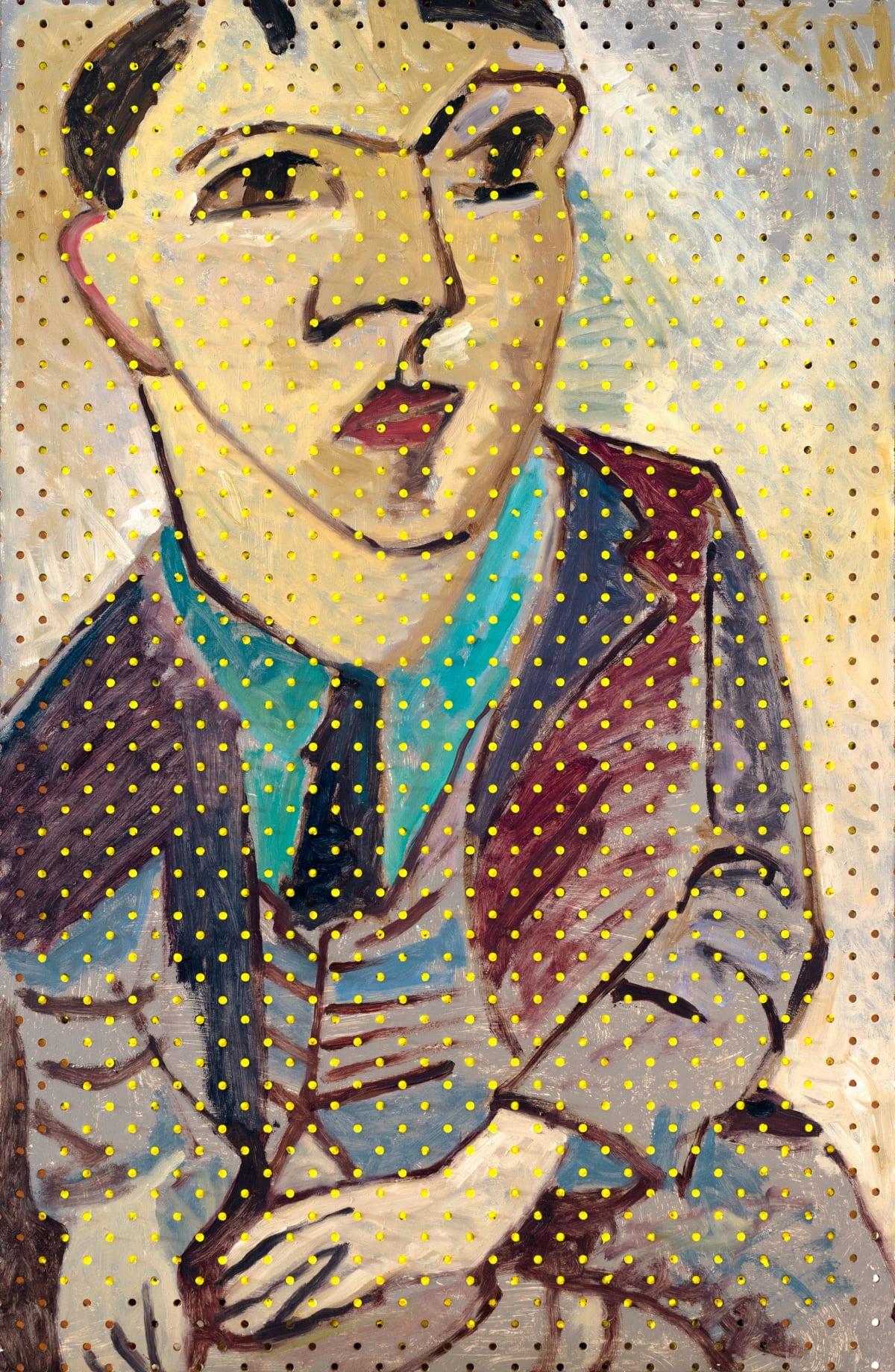 Derek Cowie Woollaston on Cadmium White, 2017 Oil on peg board 30.3 x 19.7 in 77 x 50 cm