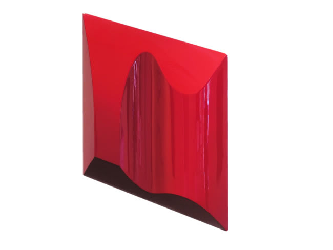 Sarah Munro Blood Red Light Study #2, 2008 Automotive paint on fibreglass support 23.6 x 23.6 x 3.5 in 60 x 60 x 9 cm