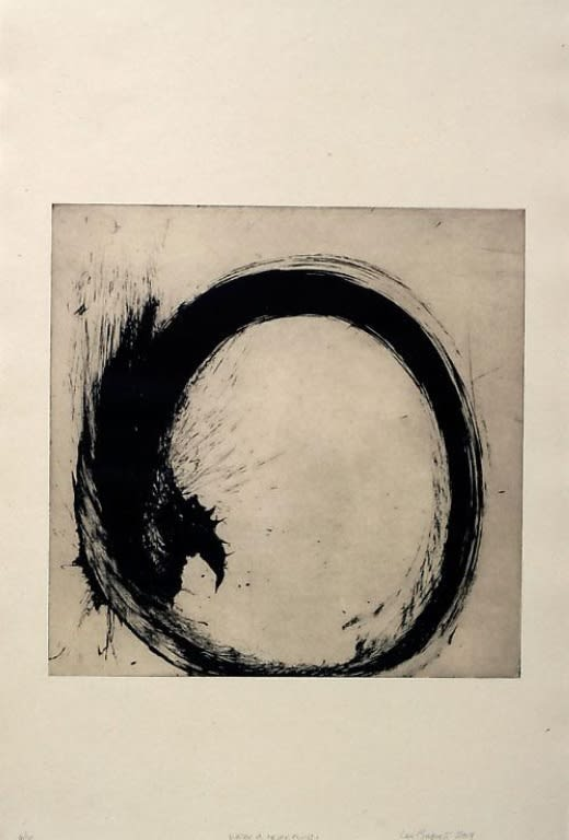 Max GIMBLETT Water is Never Clumsy, 2009 Ink and photo etching transfer on paper 39.5 x 24.5 in 100.3 x 62.2 cm #9/25