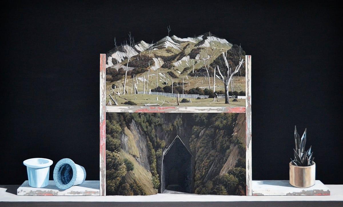 Michael Hight Uruti: The Promised Land, 2015 Oil on linen 36 x 60 in 91.5 x 152.5 cm