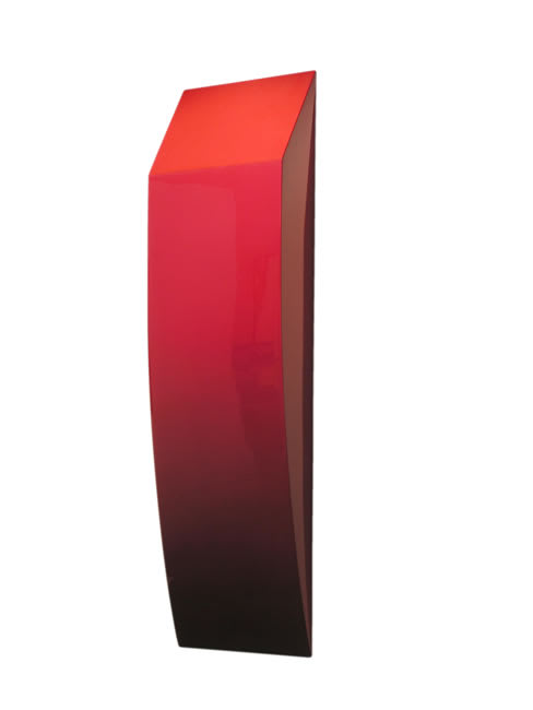 Sarah Munro Blood Red Object Slice #1, 2008 Automotive paint on fibreglass support 41.3 x 11.8 x 4.3 in 105 x 30 x 11 cm