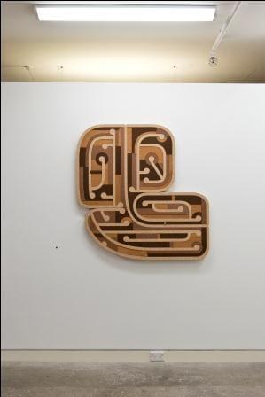 Ngataiharuru TAEPA  Tane-Tuturi, 2014  44.1 x 44.1 in 112 x 112 cm