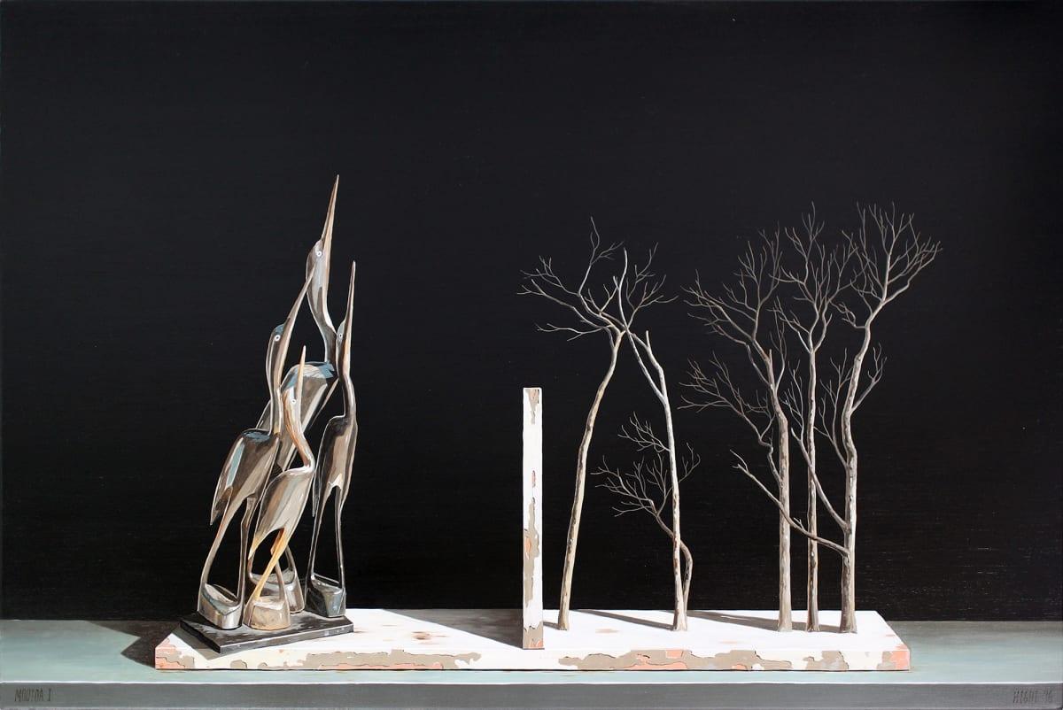 Michael Hight Moutoa I, 2016 Oil on linen 20.1 x 30.1 in 50.5 x 76.5 cm