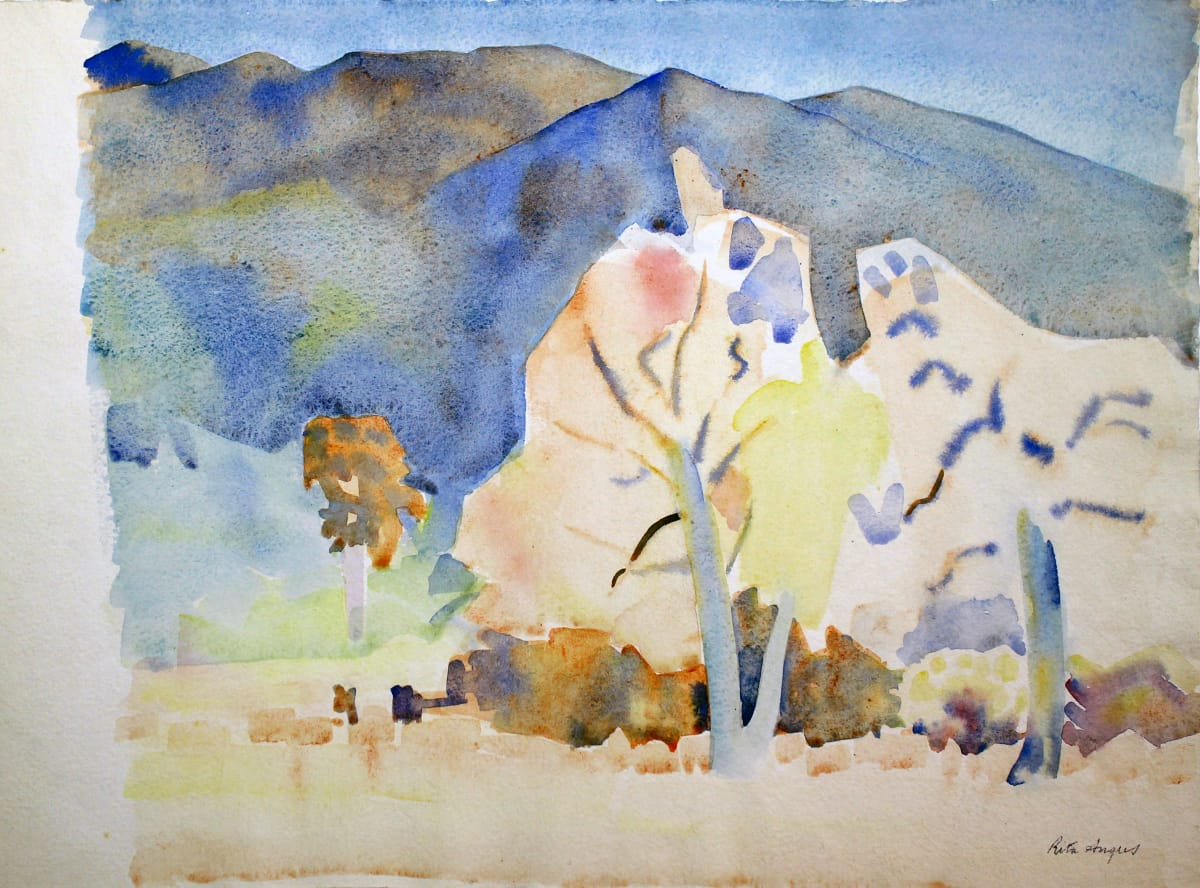 Rita Angus Trees and Hills, Mid-1960s Watercolour on paper 11.2 x 15.4 in 28.5 x 39.2 cm