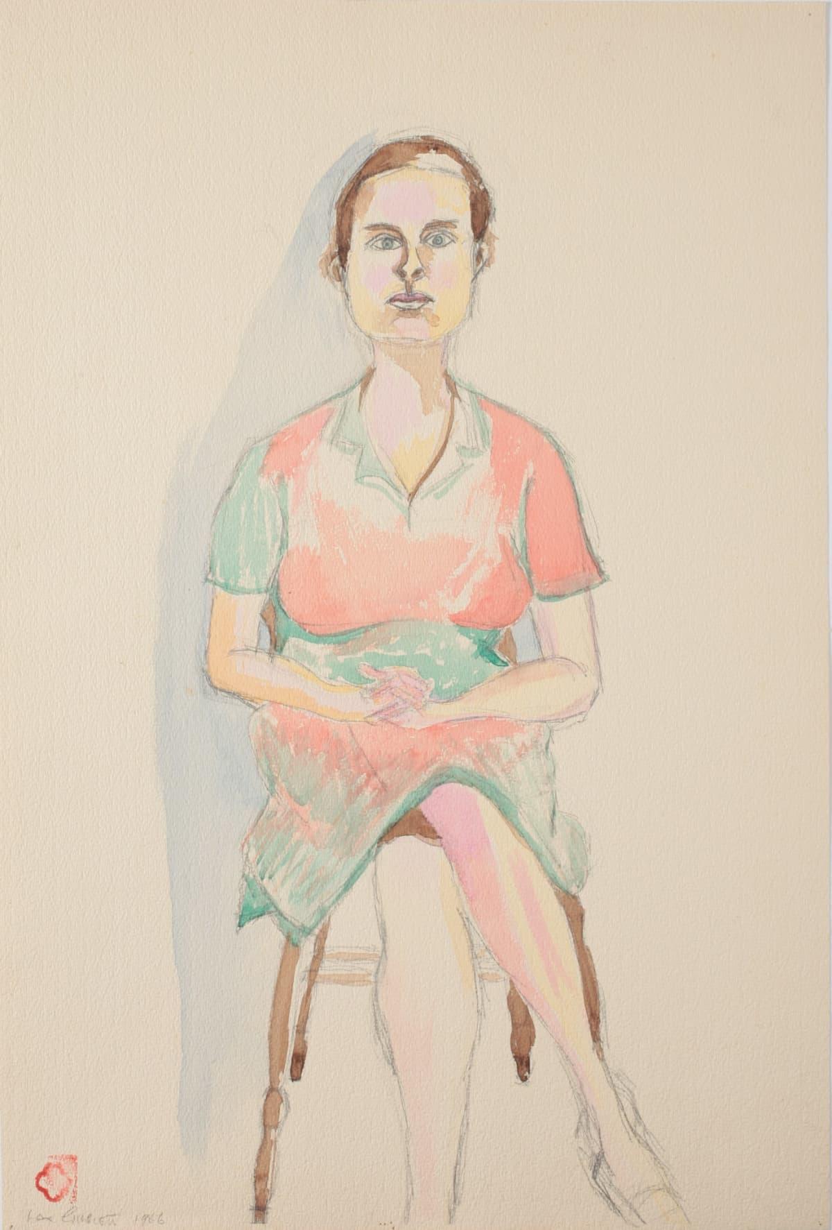 Max GIMBLETT Barbara, 1966 Watercolour on paper 24 x 16 in 61 x 40.6 cm