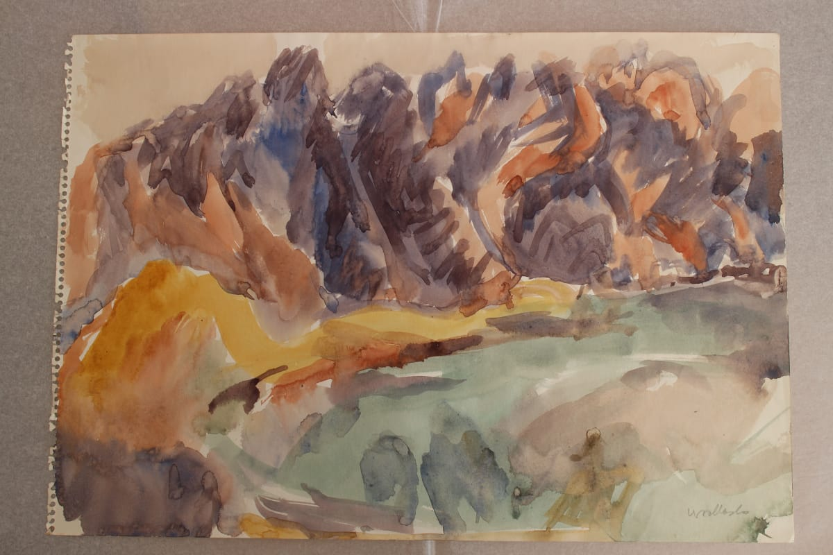 Mountford Tosswill Woollaston  The Remarkables 2, 1973  Watercolour on paper  12.4 x 17.9 in 31.5 x 45.5 cm