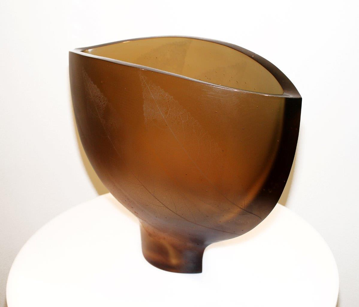 Ann Robinson Landscape Bowl, 2009/2012 Cast glass 15.4 x 19.4 x 8.9 in 39.1 x 49.2 x 22.5 cm