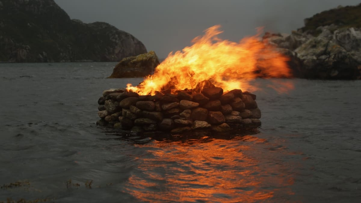 Julie Brook, Firestack, Autumn: Aird Bheag, Outer Hebrides, Scotland, 2016