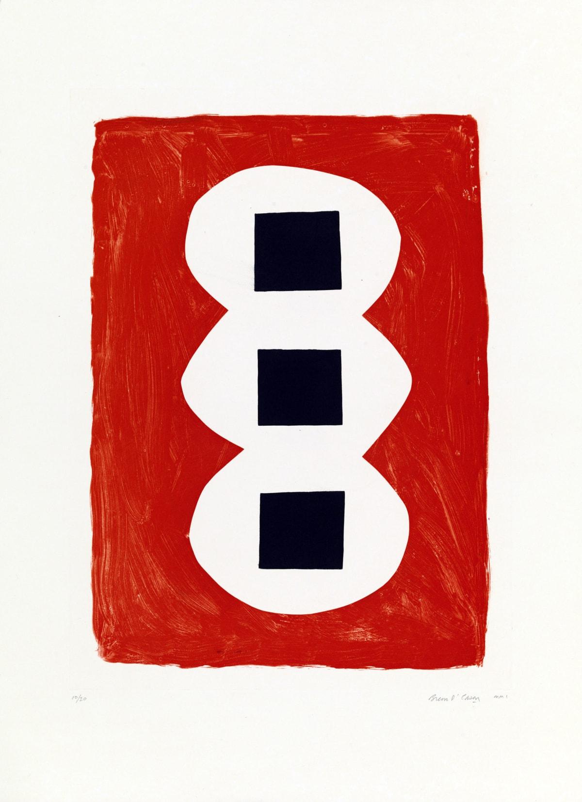 Breon O'Casey, Three Black Squares, 2001