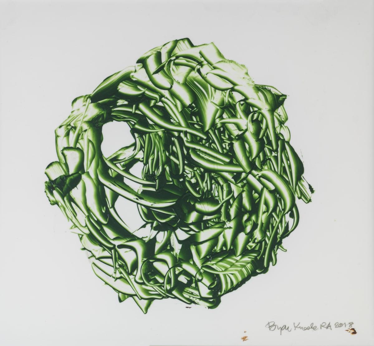 Bryan Kneale, Dark Green Sphere, 2018