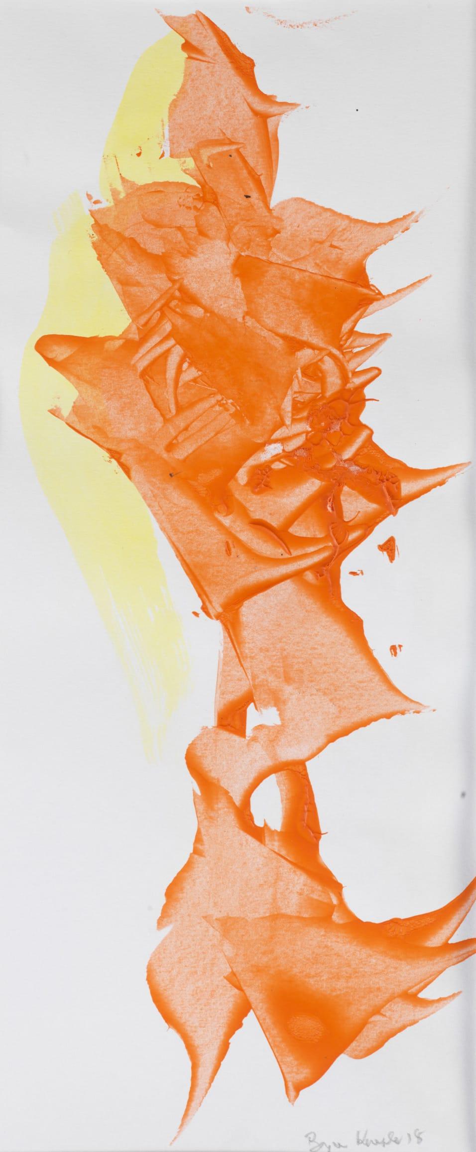 Bryan Kneale, Orange and Yellow, 2018