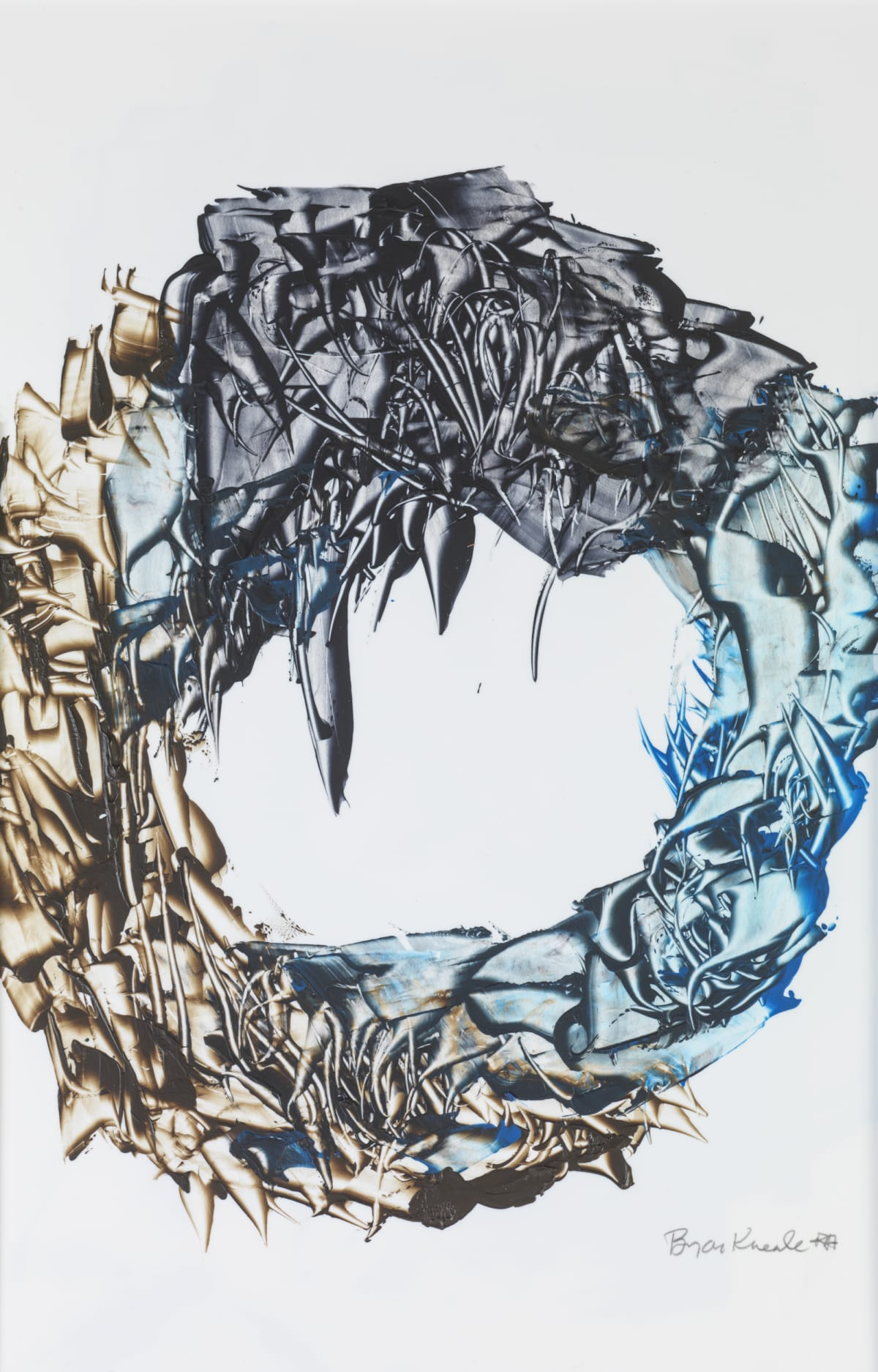 Bryan Kneale, Revolving Blue, 2018