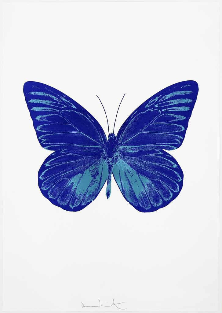 Damien Hirst The Souls I - Westminster Blue/Topaz, 2010 2 colour foil block on 300gsm Arches 88 archival paper. Signed and numbered. Published by Paul Stolper and Other Criteria 72 x 51cm OC7771 / 659-34 Edition of 15