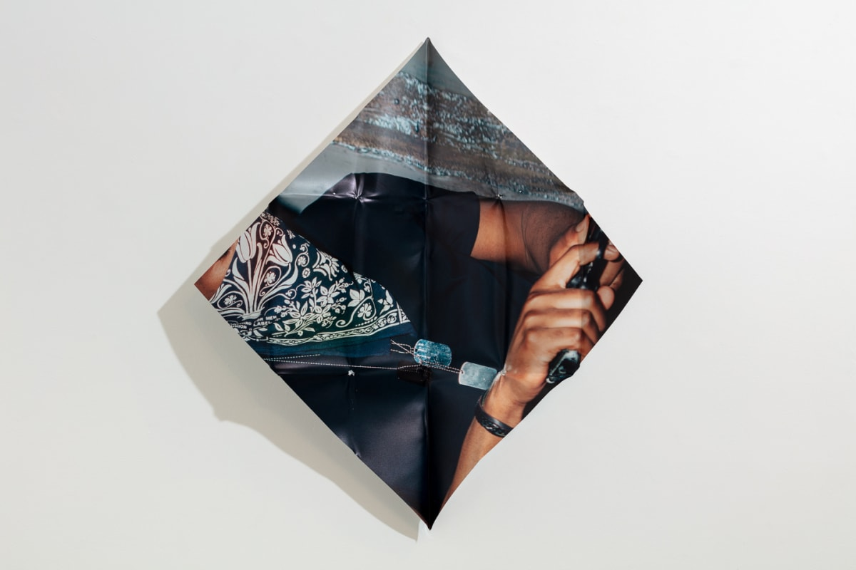 Mat Collishaw The Last Resort, 2018 Digital print on aluminium, hand folded by artist 84 x 84 x 10 cm (variable) Edition of 10 Signed and numbered