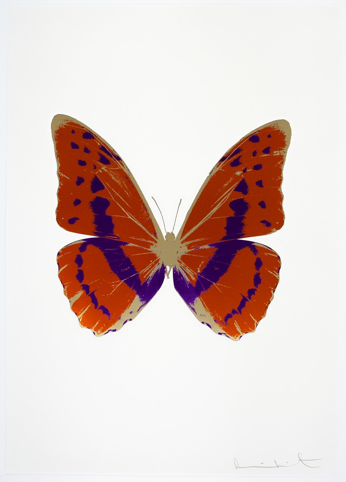 Damien Hirst The Souls III - Prairie Copper/Imperial Purple/Cool Gold, 2010 3 colour foil block on 300gsm Arches 88 archival paper. Signed and numbered. Published by Paul Stolper and Other Criteria 72 x 51cm OC7937 / 660-40 Edition of 15