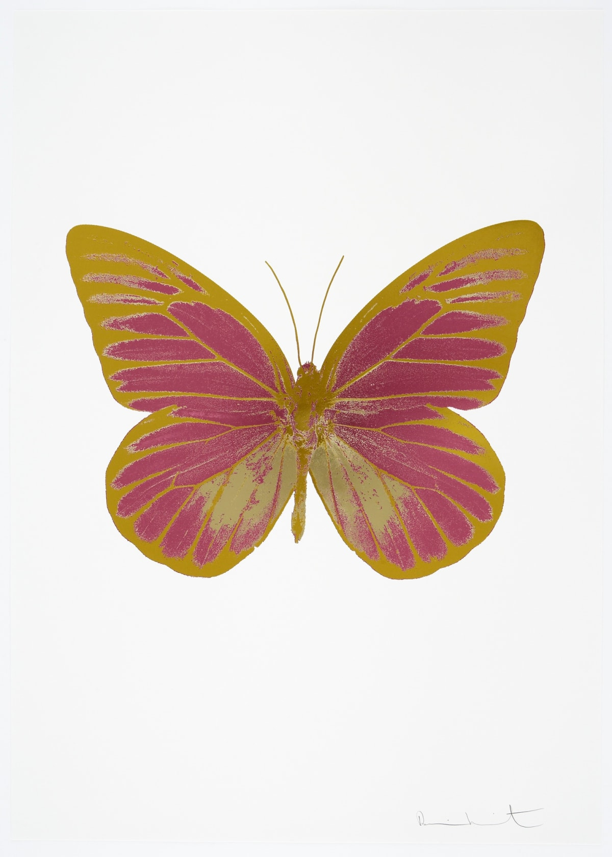 Damien Hirst The Souls I - Loganberry Pink/Cool Gold/Oriental Gold, 2010 3 colour foil block on 300gsm Arches 88 archival paper. Signed and numbered. Published by Paul Stolper and Other Criteria 72 x 51cm OC7812 / 659-75 Edition of 15