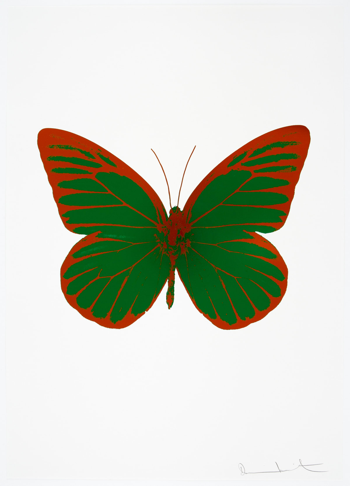 Damien Hirst The Souls I - Emerald Green/Prairie Copper, 2010 2 colour foil block on 300gsm Arches 88 archival paper. Signed and numbered. Published by Paul Stolper and Other Criteria 72 x 51cm OC7796 / 659-59 Edition of 15