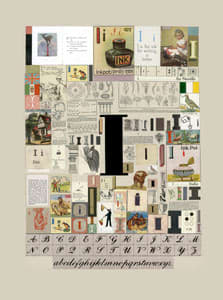 Peter Blake The Letter I, 2007 Silkscreen, embossing and glaze on Somerset satin 300gsm Signed and numbered 52 x 37.5 cm Edition of 60