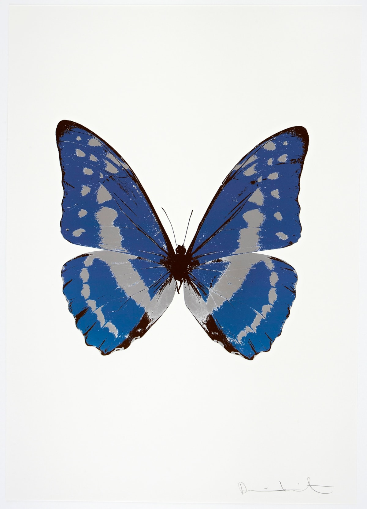 Damien Hirst The Souls III - Frost Blue/Silver Gloss/Chocolate, 2010 3 colour foil block on 300gsm Arches 88 archival paper. Signed and numbered. Published by Paul Stolper and Other Criteria 72 x 51cm OC7919 / 660-22 Edition of 15