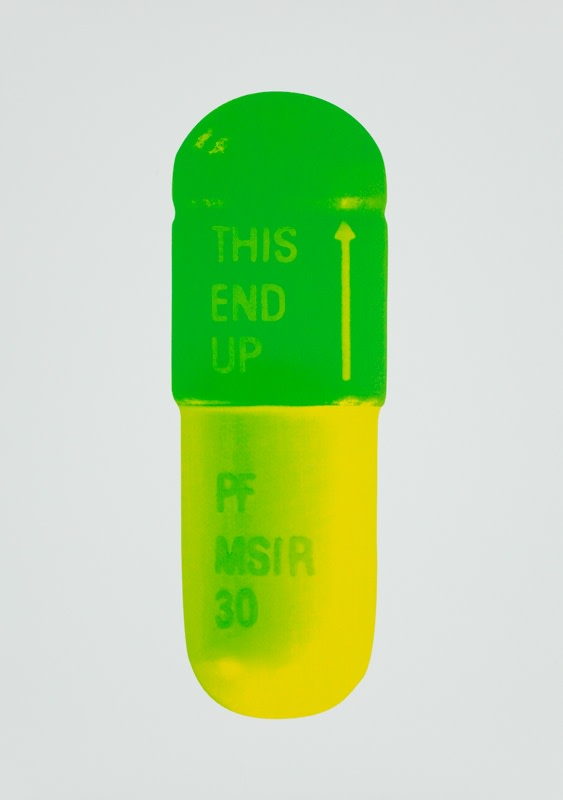 Damien Hirst The Cure - Mint Blue/Apple Green/Lemon Yellow, 2014 Silkscreen on Somerset Tub Sized 410gsm. Signed and numbered. Published by Paul Stolper and Other Criteria. 72 x 51 cm OC10205 / DHP18597 Edition of 15