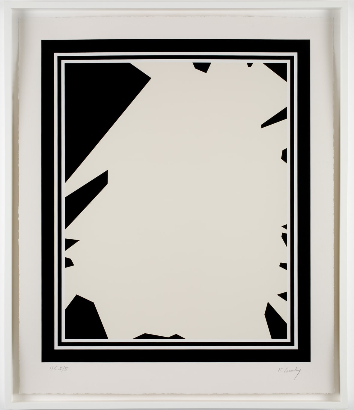 Keith Coventry Broken Window I, 2008 Silkscreen on Arches 410gsm Signed and numbered 71.4 x 59 cm Edition of 50