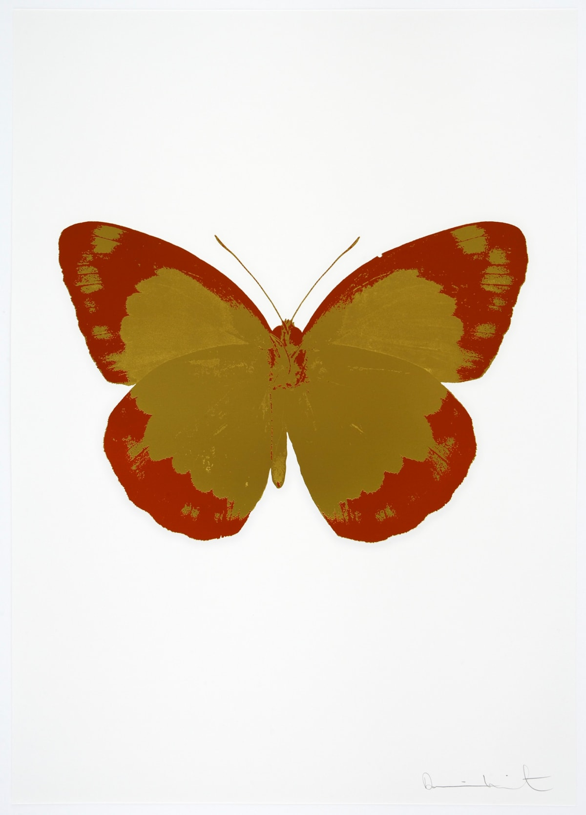 Damien Hirst The Souls II - Oriental Gold/Prairie Copper/Blind Impression, 2010 2 colour foil block on 300gsm Arches 88 archival paper. Signed and numbered. Published by Paul Stolper and Other Criteria 72 x 51cm OC7888 / 658-71 Edition of 15