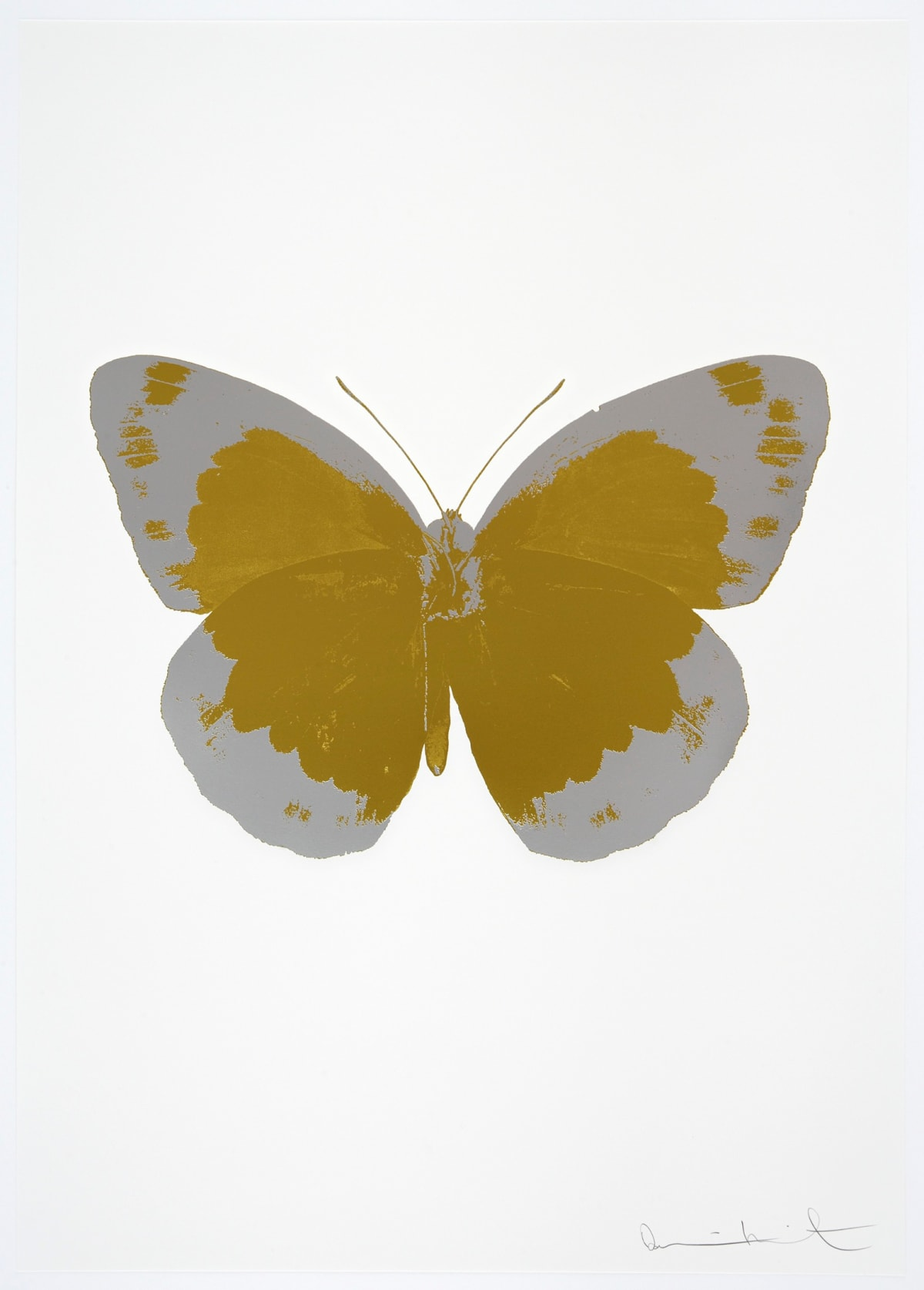 Damien Hirst The Souls II - Oriental Gold/Silver Gloss/Blind Impression, 2010 2 colour foil block on 300gsm Arches 88 archival paper. Signed and numbered. Published by Paul Stolper and Other Criteria 72 x 51cm Edition of 15