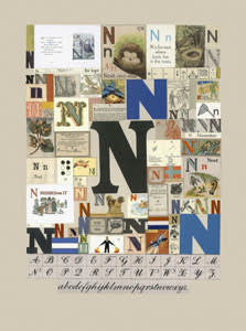 Peter Blake The Letter N, 2007 Silkscreen, embossing and glaze on Somerset satin 300gsm Signed and numbered 52 x 37.5 cm Edition of 60