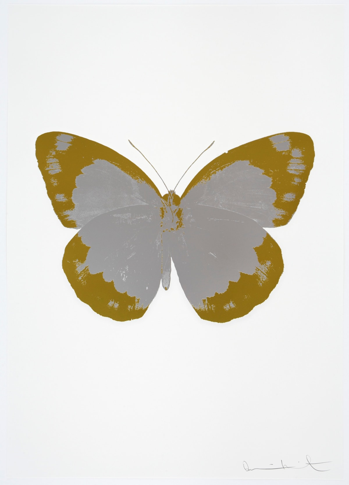 Damien Hirst The Souls II - Silver Gloss/Oriental Gold/Blind Impression, 2010 2 colour foil block on 300gsm Arches 88 archival paper. Signed and numbered. Published by Paul Stolper and Other Criteria 72 x 51cm Edition of 15