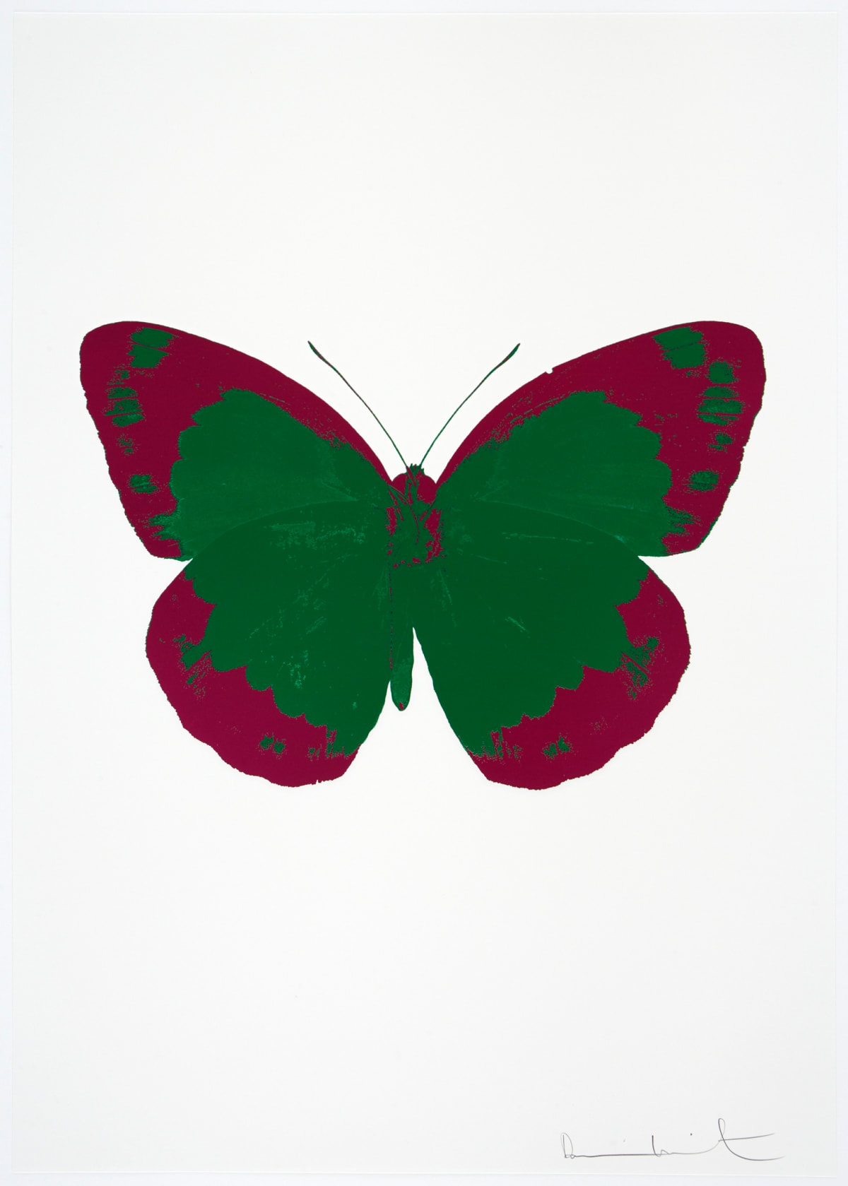 Damien Hirst The Souls II - Emerald Green/Fuchsia Pink/Blind Impression, 2010 2 colour foil block on 300gsm Arches 88 archival paper. Signed and numbered. Published by Paul Stolper and Other Criteria 72 x 51cm OC7855 / 658-38 Edition of 15