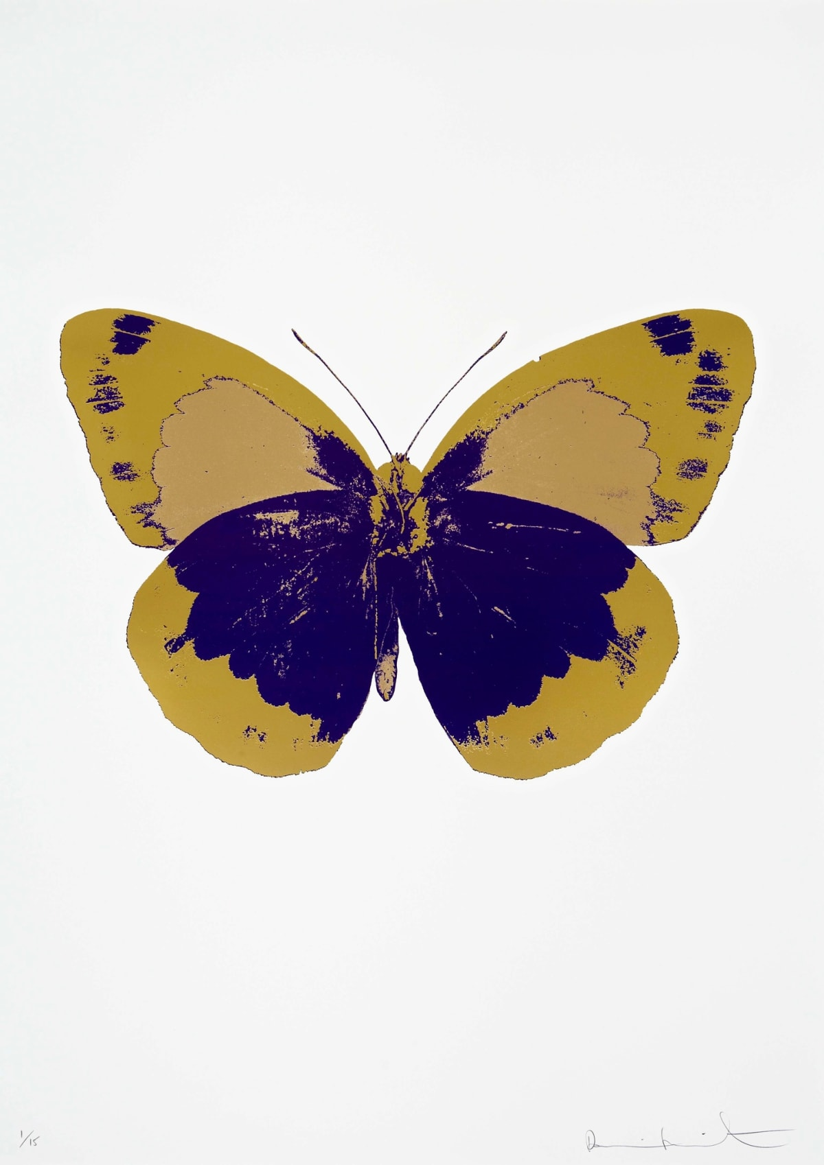 Damien Hirst The Souls II - Imperial Purple/Oriental Gold/Hazy Gold, 2010 3 colour foil block on 300gsm Arches 88 archival paper. Signed and numbered. Published by Paul Stolper and Other Criteria 72 x 51cm OC7887 / 658-70 Edition of 15