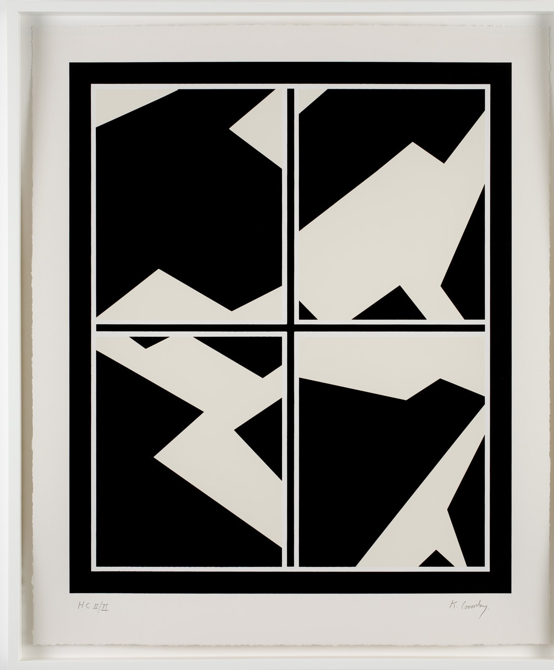 Keith Coventry Broken Window II, 2008 Silkscreen on Arches 410gsm Signed and numbered 71.4 x 59 cm Edition of 50