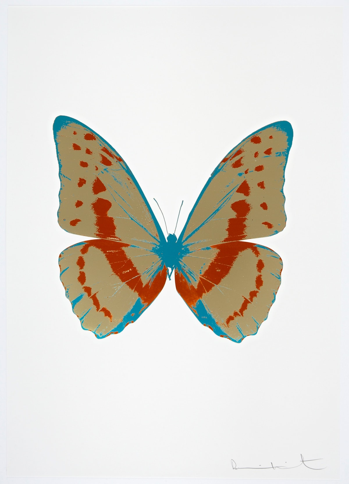 Damien Hirst The Souls III - Cool Gold/Prairie Copper/Topaz, 2010 3 colour foil block on 300gsm Arches 88 archival paper. Signed and numbered. Published by Paul Stolper and Other Criteria 72 x 51cm OC7916 / 660-19 Edition of 15