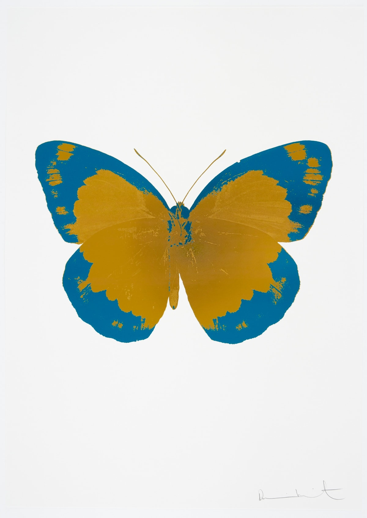 Damien Hirst The Souls II - Paradise Copper/Turquoise/Blind Impression, 2010 2 colour foil block on 300gsm Arches 88 archival paper. Signed and numbered. Published by Paul Stolper and Other Criteria 72 x 51cm OC7818 / 658-1 Edition of 15
