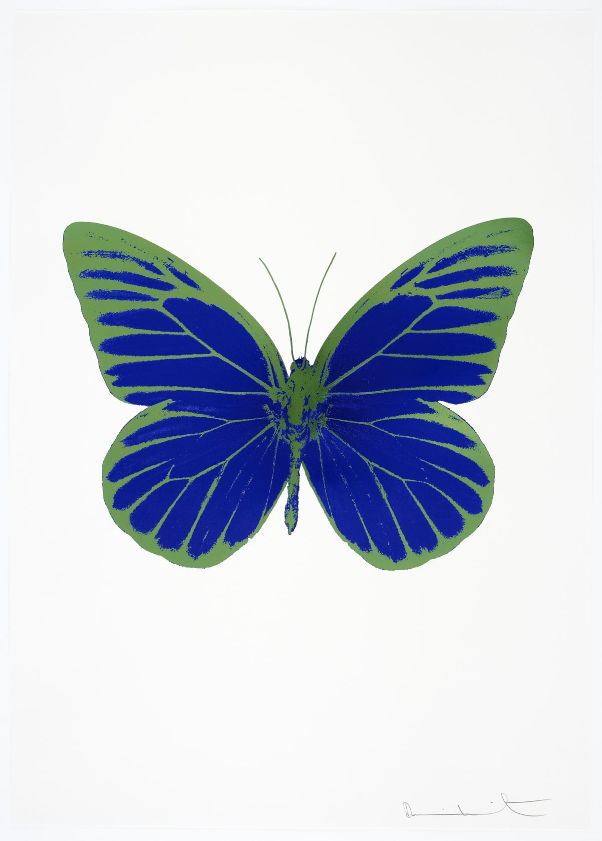 Damien Hirst The Souls I - Westminster Blue/Blind Impression/Leaf Green, 2010 2 colour foil block on 300gsm Arches 88 archival paper. Signed and numbered. Published by Paul Stolper and Other Criteria 72 x 51cm OC7785 / 659-48 Edition of 15