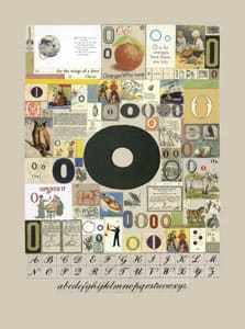 Peter Blake The Letter O, 2007 Silkscreen, embossing and glaze on Somerset satin 300gsm Signed and numbered 52 x 37.5 cm Edition of 60