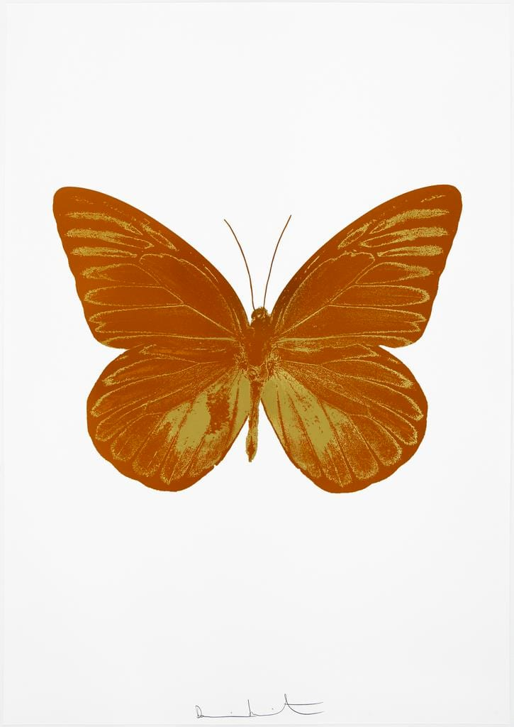 Damien Hirst The Souls I - Prairie Copper/Oriental Gold, 2010 2 colour foil block on 300gsm Arches 88 archival paper. Signed and numbered. Published by Paul Stolper and Other Criteria 72 x 51cm OC7804 / 659-67 Edition of 15